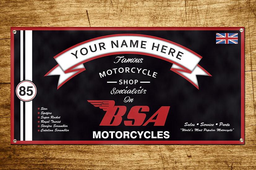 BSA Motorcycles Banner