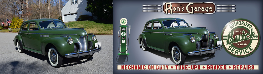 Vintage 1940 S Buick Super Garage Banner