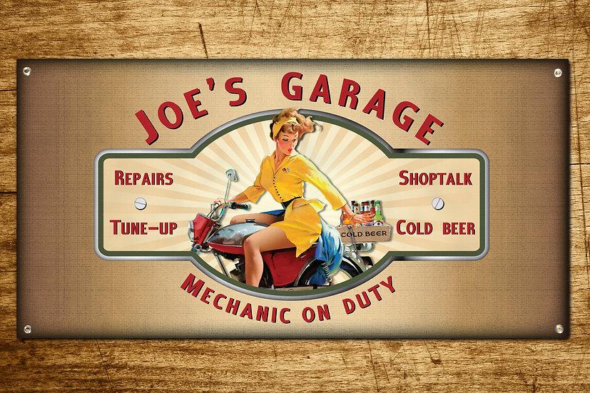 Motorcycle Garage Sign