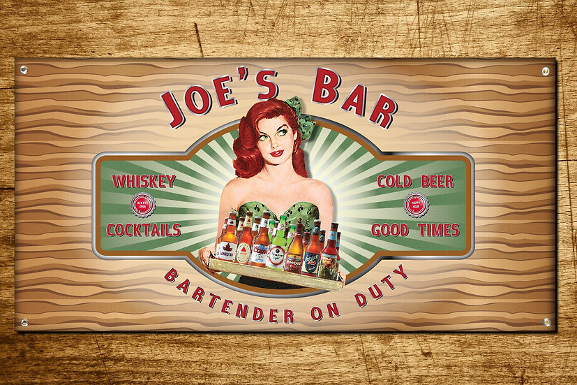 Bar Sign Red Head