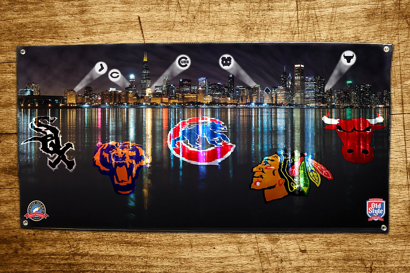 Chicago Sports Teams Banner