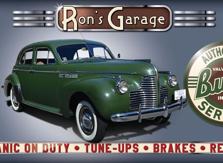 Vintage 1940's Buick Super Garage Banner
