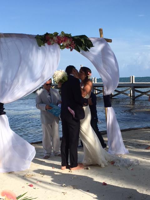 Vows under the arch