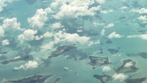 Flying over the Caribbean. So, how did this happen?