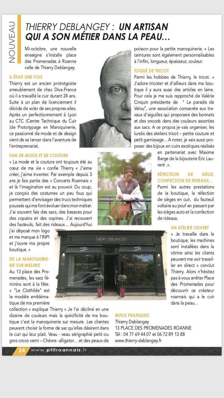 Article du P'tit Roannais