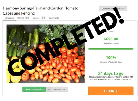 First Project Generous Campaign for Community Garden CSA a Success!
