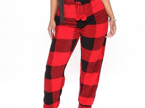 Check Me Plush PJ Jogger Pants