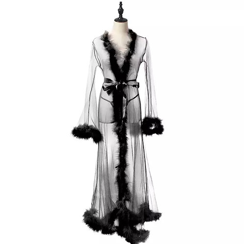 Sassy Fur Trim Robe
