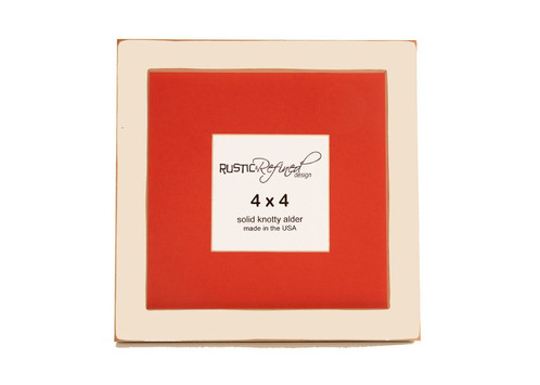 8x8 1 Gallery Picture Frame Off White 4x4 Persimmon Matte