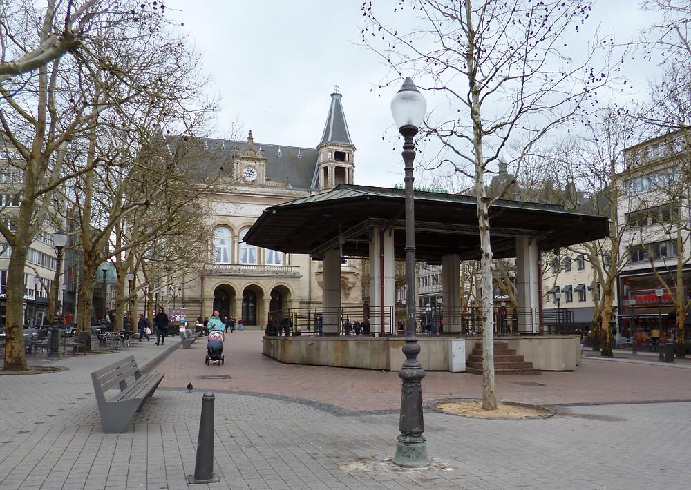 Fines del invierno en el centro histórico de la ciudad de Luxemburgo