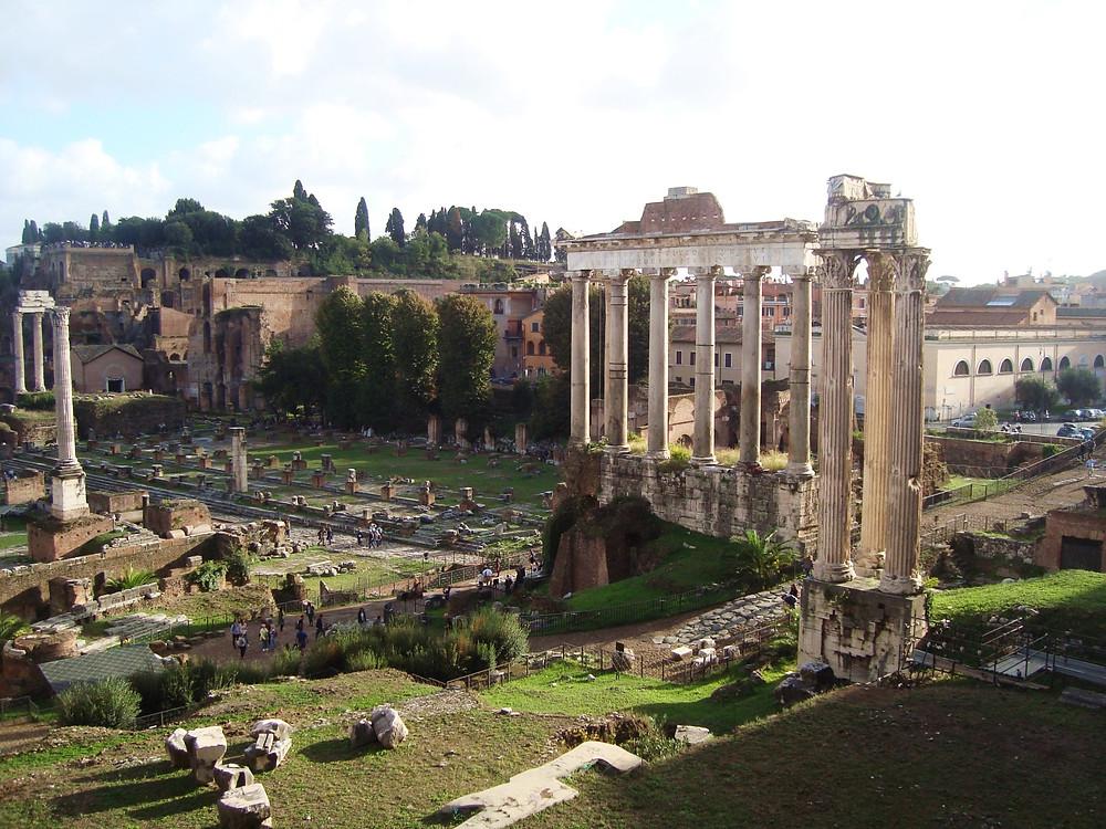 Qué hacer en Roma gratis Foro Romano - Palatino  vista desde la calle