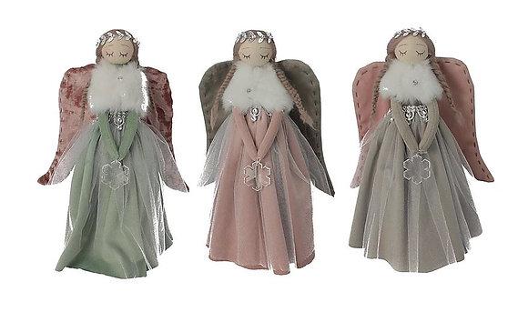 Angeli in piedi in velluto
