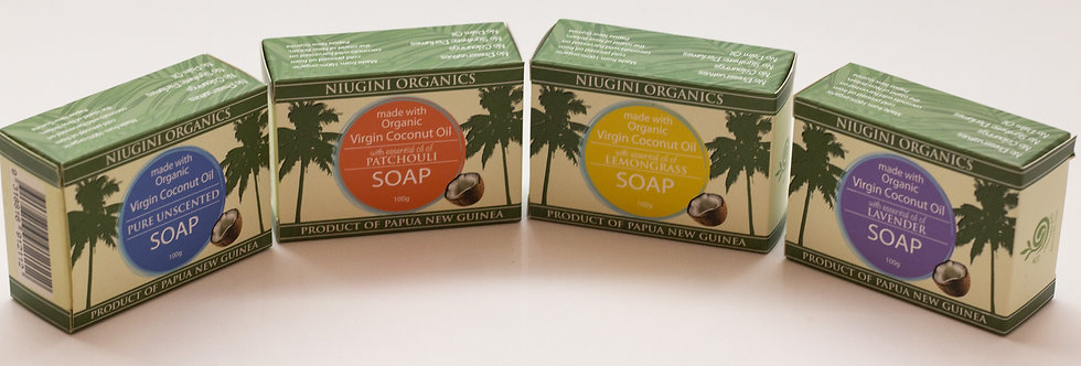 4 x Coconut Soap 100g