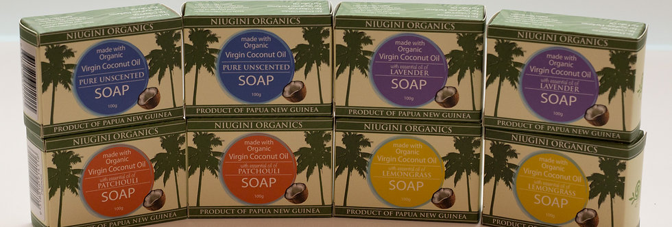 8 x Coconut Soaps 100g