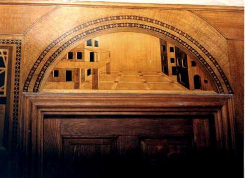 Marquetry door