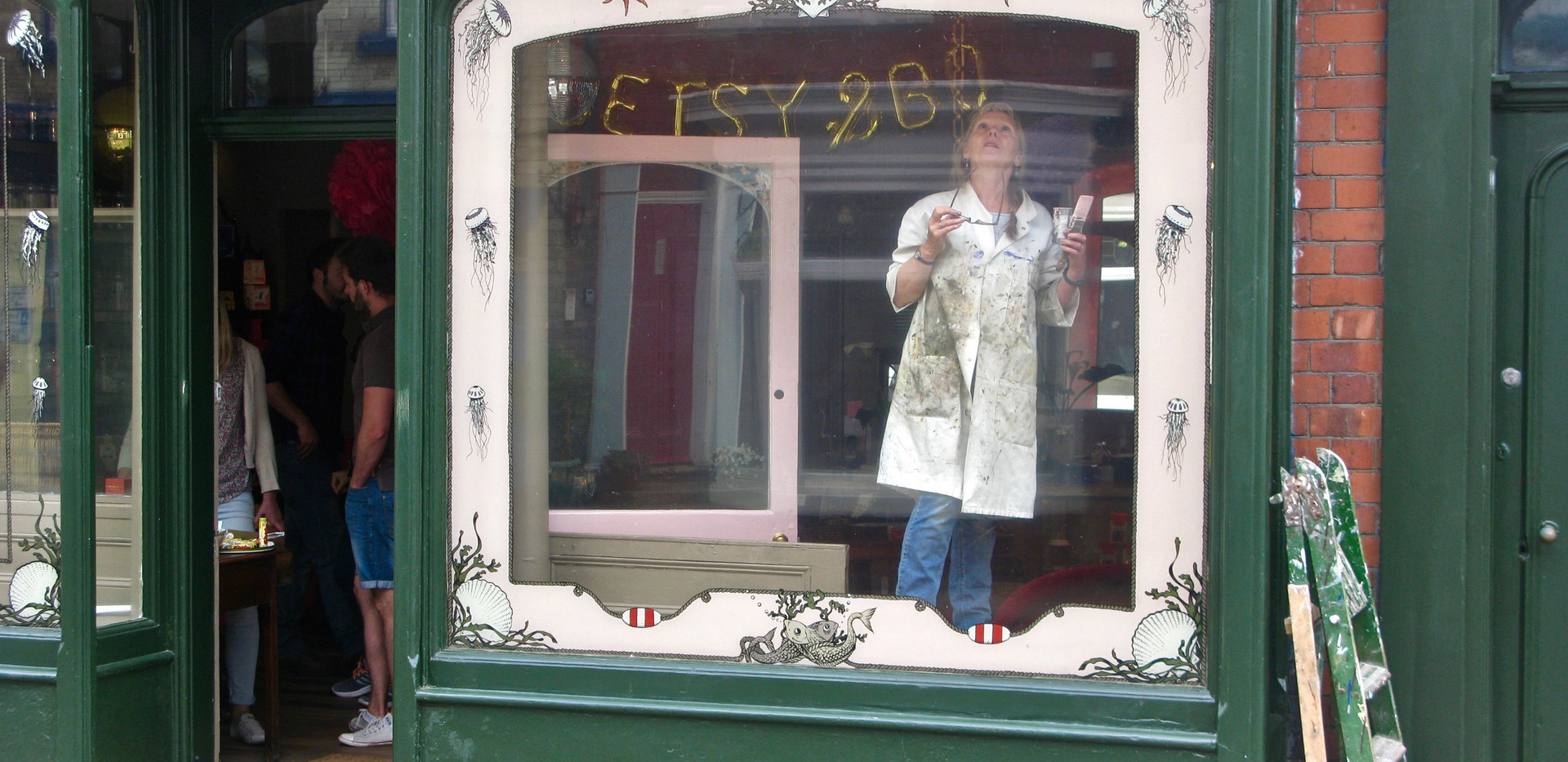 A shop window in Staithes