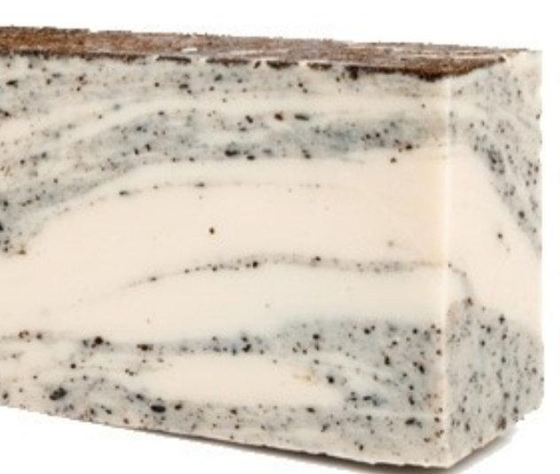 Coconut soap slice