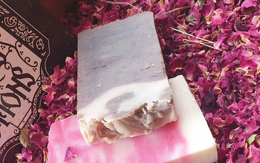 Chocolate olive oil soap slice