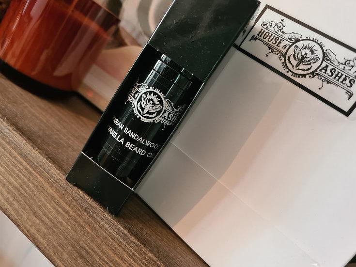 Arabian sandalwood and vanilla beard oil