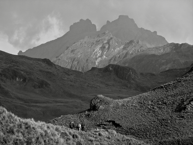Research team approaching Soroche mountain from the west.
