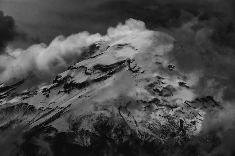 The glaciated slopes of Chimborazo mountain send water to the Amazon, 4000 km (2500 miles) away.