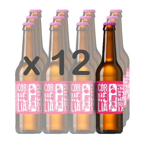 CAIXA x 12 - SWING (Cervesa de Blat amb Toc de Maduixa) 33cl.
