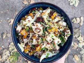 Butternut Squash Winter Salad- with cooked chicken or roasted winter veg