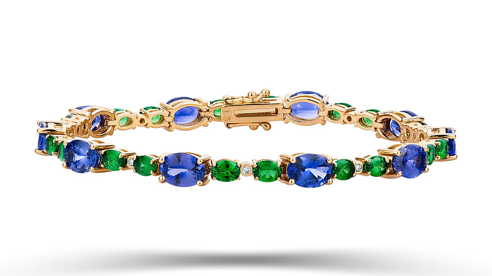 Tanzanite & Tsavorite Bracelet