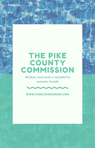 The Pike County Commission summer flyer.