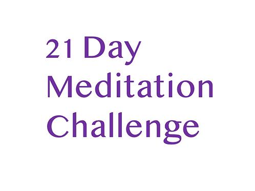 Complete 21 Day Meditation Challenge