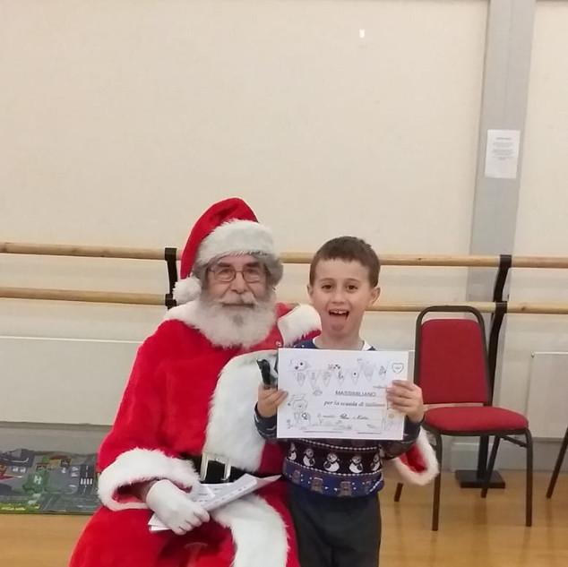 Attivita' natalizia e visita di Babbo Natale