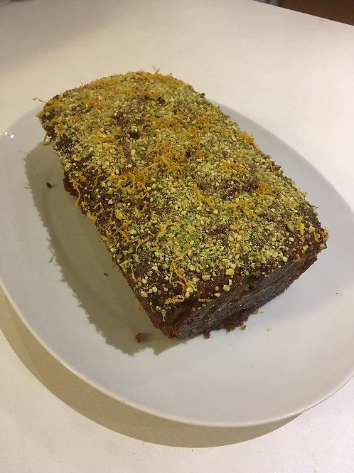 Courgette, Pistachio & Lemon syrup cake