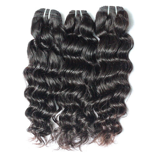 3 Bundle Deals Wavy  Hair + Lace Closure Included