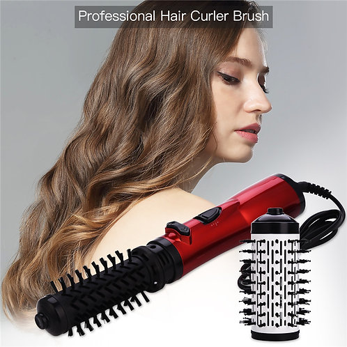 3 in 1 Rotating Hair Brush Curler Roller Automatic Ionic Hair Brush Blow Dryer