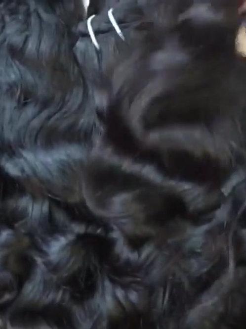 Raw Laotian Wavy Hair Weft  (Raw Lao Hair)