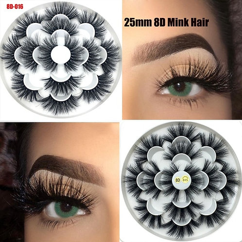 5D Real Mink Lashes  TEXAS