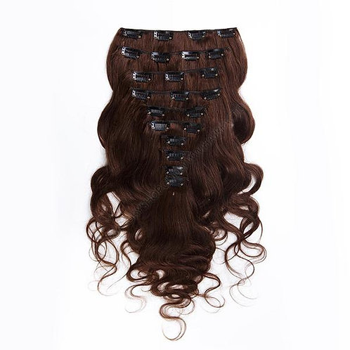 100% Raw Wavy Clip-ins Extensions