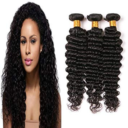 3 Bundle Deals Curly Hair + Lace Closure Included