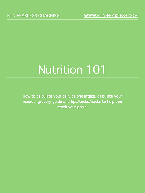 Nutrition 101 ebook