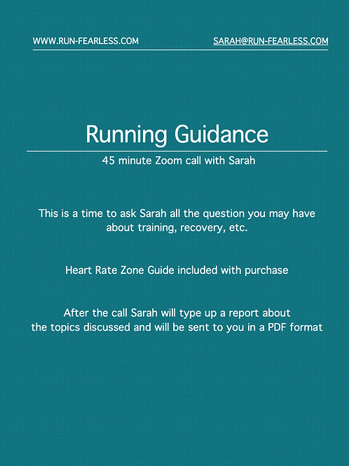 Running Guidance via Zoom