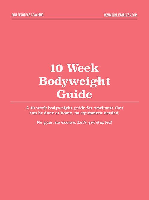 10 Week Bodyweight Guide