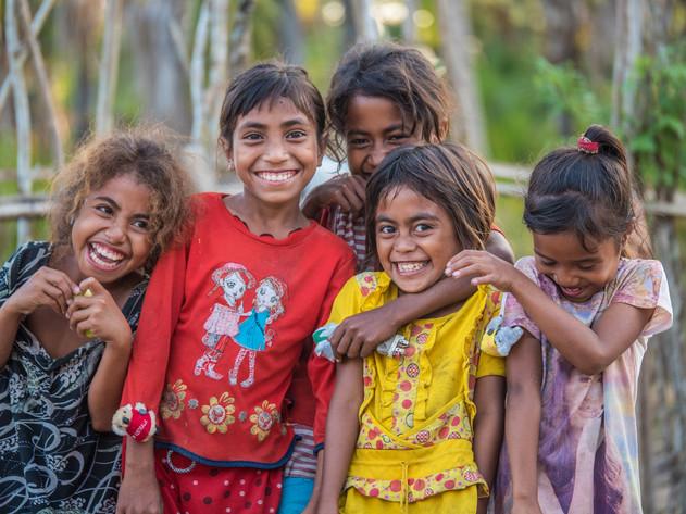 Friendly girls in Timor Leste