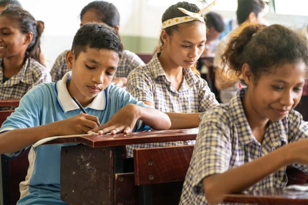 Students at school in Timor Leste