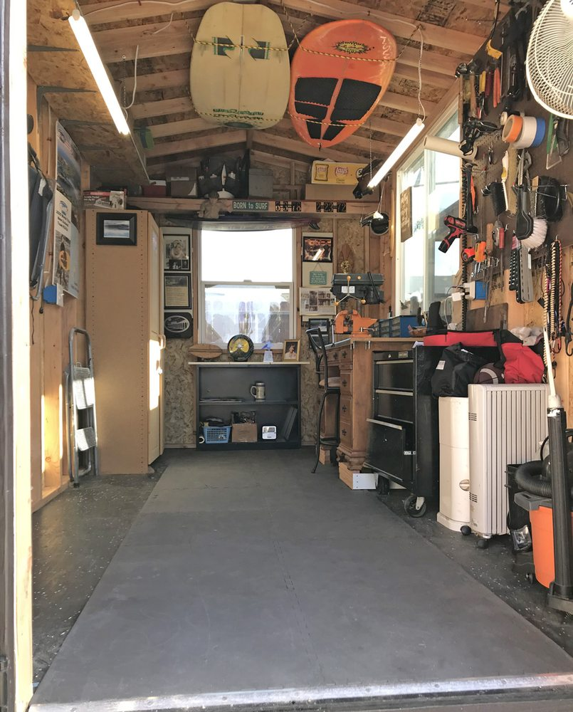 Beach Shed and Workshop Interior