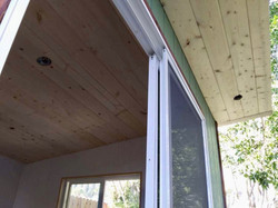 Studio Shed Ceiling and Soffit with Lights