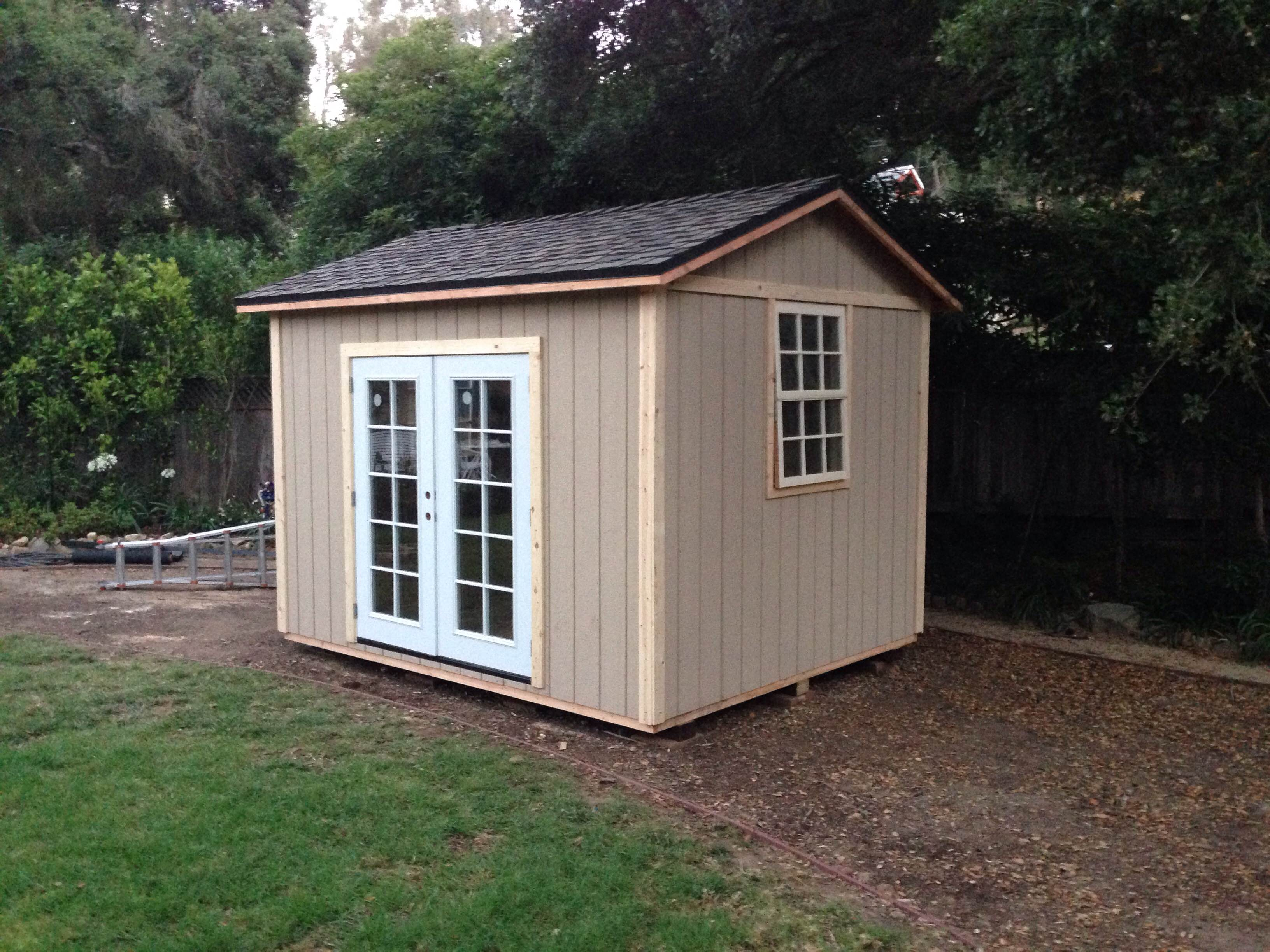 10x12' Art Studio Shed in Montecito