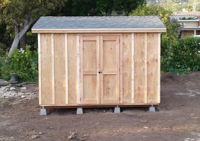 10x12' Storage Shed in Montecito