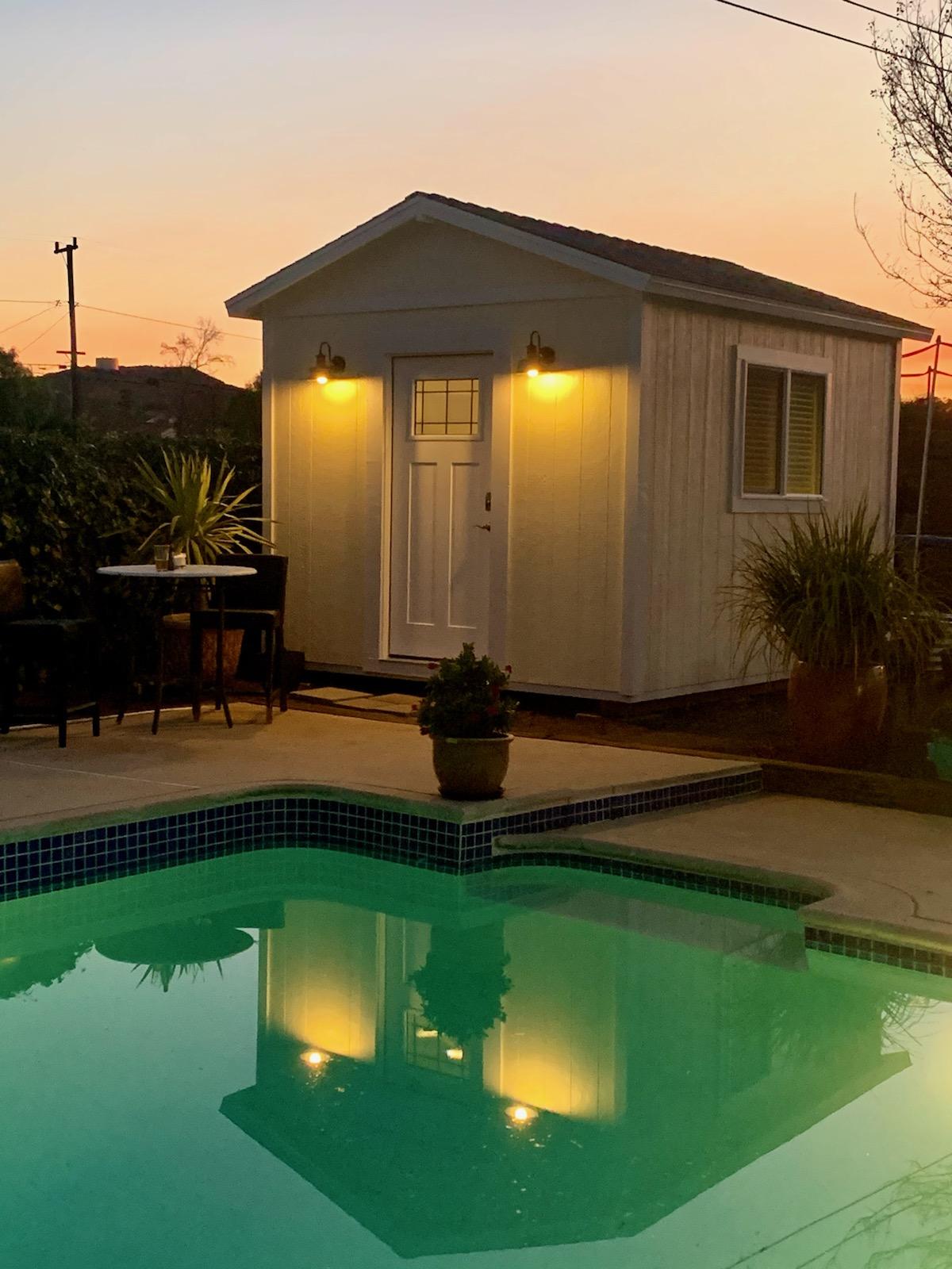 Poolside Studio Shed