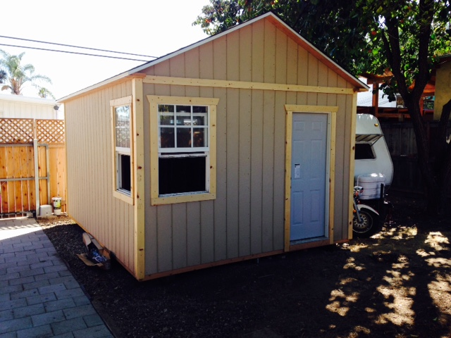 12x16' Studio Shed in Santa Barbara