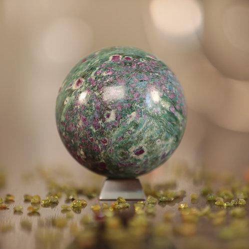 Ruby Fuchsite/Kyanite Sphere